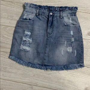 Denim distressed Hayden skirt
